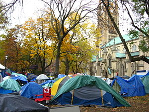 Occupy Toronto - Image: St James Park Tents