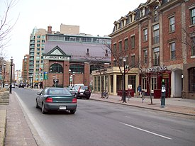 View of St. Lawrence and St. Lawrence Market from Front Street