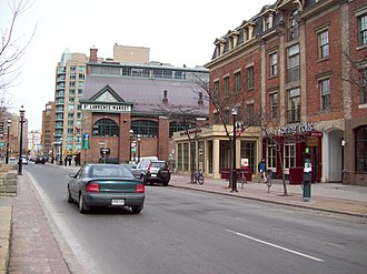 St. Lawrence, Toronto - View of St. Lawrence and St. Lawrence Market from Front Street