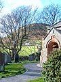 St Mary's Church Whicham, porch and churchyard - geograph.org.uk - 541631.jpg