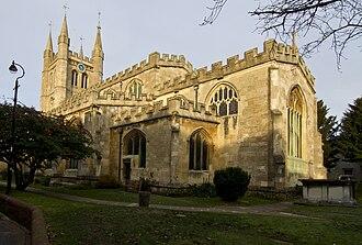 St Nicolas Church, Newbury - View of church from graveyard