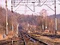 Stacja Wojanów widok w stronę Trzcińska Wojanów station, direction Trzcińsko.JPG
