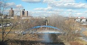 Starlight Park - Pedestrian bridge in (unopened) public park