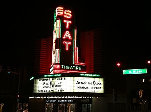 Kill Bill: Volume 2 - The State Theater Ann Arbor, MI shows a double feature of Kill Bill Vols. 1 and 2