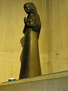 'Mary, the woman of Faith', bronze, by Terry Jones, Clifton Cathedral