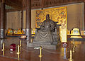 Statue of Yongle emperor inside Lingen gate at Changling tomb, Beijing.jpg