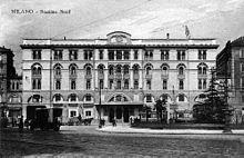 La stazione nel 1920 prima della sua distruzione nel 1943