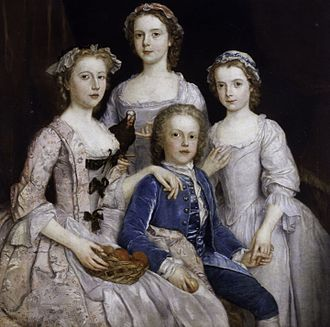 Edward Walpole - Laura, Maria, Charlotte and Edward