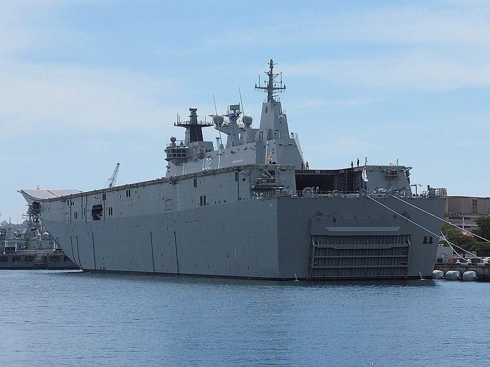 Stern of HMAS Canberra December 2014
