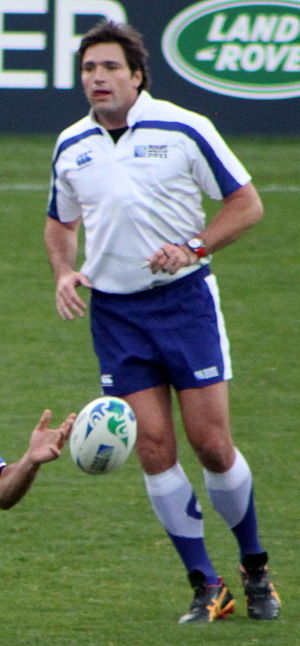 Steve Walsh (rugby referee) - Walsh during 2011 Rugby World Cup