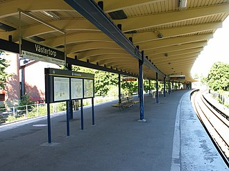 Västertorp - Image: Stockholm subway västertorp 20050902 001