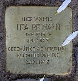 Photo of Lea Reimann brass plaque