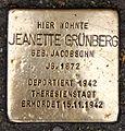 Stolperstein Fehrbelliner Str 22 (Mitte) Jeanette Grünberg.jpg