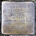 Stolperstein Mainzer Str 16 (Wilmd) Antonie Folkmar.jpg