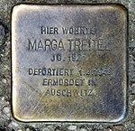 Stolperstein Richard-Sorge-Str 34 (Frhai) Marga Treitel.jpg