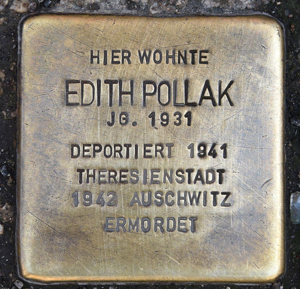 Stolperstein für Edith Pollak.JPG