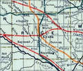 Stouffer's Railroad Map of Kansas 1915-1918 Rice County.png
