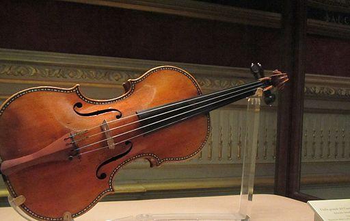 Stradivarius violin in the royal palace in madrid