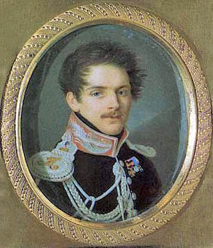 Sergei Grigoryevich Stroganov - A portrait of Sergei Stroganov in his younger years by Pietro de Rossi.