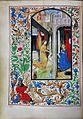 Stundenbuch der Maria von Burgund Wien cod. 1857 Verkuendigung an Maria.jpg