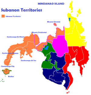 Subanon people - Image: Subanon Territories