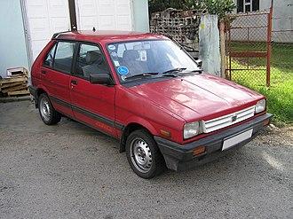 Subaru Justy - Subaru Justy 4WD, original version