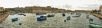 Fortifications of Birgu - The Post of Castile as viewed from Kalkara.