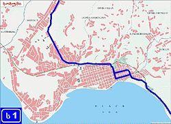 מפת העיר סוחומי