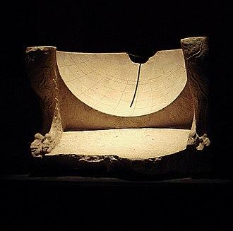 History of sundials - Hemispherical Greek sundial from Ai Khanoum, Afghanistan, 3rd-2nd century BCE.