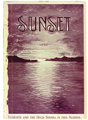 Sunset (magazine) - First edition cover