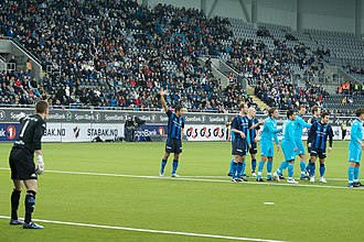 Telenor Arena - 2009 Superfinalen, the first official match at the arena