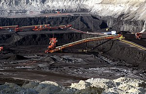 Gillette, Wyoming - A large surface coal mine near Gillette