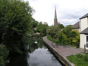 Swansea Canal - The canal at Pontardawe