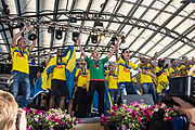 Sweden national under-21 football team celebrates in Kungsträdgården 2015-3.jpg