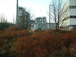 Imperial Chemical Industries - A former ICI plant in Huddersfield, West Yorkshire, now owned by Syngenta.