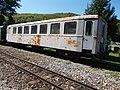 Szalajka Valley Forest Railway, rusty grey coach in Szilvásvárad, 2016 Hungary.jpg