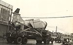 TM-72 Mace missile is trucked through Okinawa streets in a rare open display during the 1960s.jpg