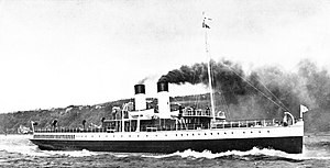 TS King Edward - TS King Edward on trials in the Firth of Clyde off Skelmorlie, between 17 and 28 June 1901