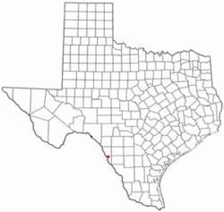 Location of El Indio, Texas