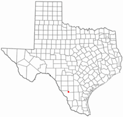 Location of Encinal, Texas