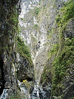 Taiwan 2009 HuaLien Taroko Gorge Narrow Gap and Road PB140025.jpg
