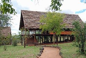 Safari lodge - Kikoti Safari Camp in Tarangire National Park, Tanzania.