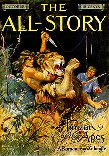 Copertina della rivista pulp The All-Story (ottobre 1912), debutto di Tarzan.