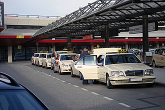Transport in Berlin - Mercedes-Benz taxicabs