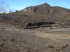 Tephra layers near the summit of Mount Tambora - Sumbawa - Indonesia.jpg
