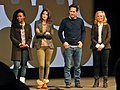 Teyonah Parris, Cobie Smulders, Paul Rudd and Amy Poehler (12129952575).jpg