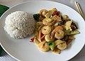 Thé Vert (Lyon) - wok de crevettes sauce curry.jpg