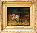 Théodore géricault, cinque cavalli da dietro, in una scuderia, 1820-22.jpg