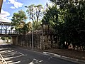 The 1865 abutment of the first road-rail bridge across the Bremer River in Ipswich, Queensland 02.jpg