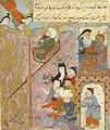 The Catapulting of Ibrahim into the Fire, Page from an unidentified Manuscript LACMA M.85.237.35.jpg